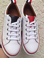 Men's Shoes Real Leather Fall Winter Comfort Loafers & Slip-Ons For Casual White