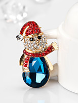 Men's Women's Brooches Cute Style Chrismas Alloy Jewelry For Gift Christmas