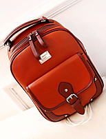 Women Bags PU Backpack Zipper for Casual All Seasons White Black Brown