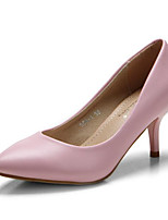 Women's Shoes PU Spring Fall Basic Pump Heels For Casual Almond Blushing Pink Green Black White