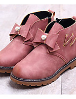 Girls' Shoes Leatherette Fall Winter Comfort Bootie Boots Booties/Ankle Boots For Casual Blushing Pink Light Yellow Black