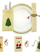Sacs à cadeau Vacances Thème de conte de fées Personnes Tissu Décoration de Noël