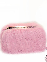 Women Bags All Seasons Fur Evening Bag Feathers / Fur for Wedding Event/Party Black Blushing Pink Gray