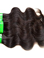 cheap -4 Pieces Natural Black Virgin Indian Human Hair Weaves Hair Extensions