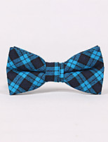 Men's Polyester Cotton Blend Bow TieGrid Jacquard All Seasons