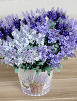 6pc 10 головок искусственный лавандовый шелковый цветок свадебный флористический цветок 3 цвета