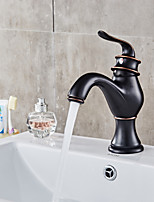 Centerset Brass Valve Single Handle One Hole for  Oil-rubbed Bronze , Bathroom Sink Faucet