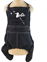 Dog Harness Dog Clothes Casual/Daily Letter & Number Black