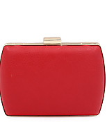 Women Bags All Seasons PU Evening Bag Buttons for Wedding Event/Party Gold Black Red Khaki