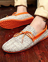Men's Shoes Fabric Summer Moccasin Loafers & Slip-Ons For Casual Blue Green Orange