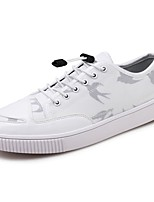 Men's Shoes Fabric Spring Summer Comfort Sneakers Lace-up For Casual Black White