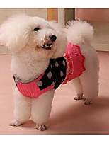 Dog Dress Dog Clothes Casual/Daily Princess Coffee Pink Costume For Pets