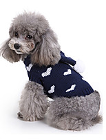 Dog Sweater Dog Clothes Casual/Daily Hearts Costume For Pets