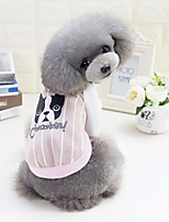 Dog Sweatshirt Dog Clothes Casual/Daily Cartoon Light Blue Blushing Pink Green