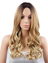 Women Synthetic Wig Capless Long Natural Wave Strawberry Blonde/Bleach Blonde Natural Wigs Costume Wig