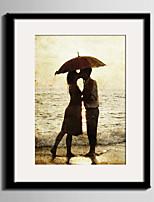 Romance Paisagem Pessoas Quadros Emoldurados Conjunto Emoldurado Arte de Parede,PVC Material com frame For Decoração para casa Arte