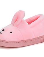 Girls' Shoes Fleece Winter Comfort Slippers & Flip-Flops For Casual Gray Coffee Green Pink