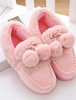 Girls' Shoes Sheepskin Fall Winter Comfort Slippers & Flip-Flops For Casual Blushing Pink Gray
