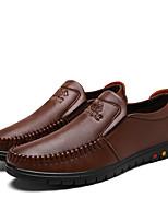 Homme Chaussures Cuir Automne Hiver Confort Moccasin Mocassins et Chaussons+D6148 Pour Décontracté Noir Marron