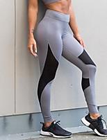 Damen Druck Genähte Spitzen Einfarbig Legging
