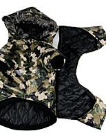 Hund Mäntel Hundekleidung Lässig/Alltäglich Polizei / Militär Grün Kostüm Für Haustiere