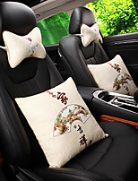 Automotive Headrests Waist Cushions For universal All years Car Headrests Car Waist Cushions Fabrics