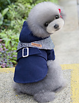 Dog Coats Dog Clothes Casual/Daily British Red Blue Costume For Pets