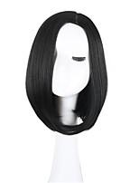 Women Synthetic Wig Capless Short Straight Black African American Wig Bob Haircut Lolita Wig Celebrity Wig Natural Wigs Costume Wig