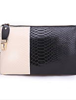 Women Bags All Seasons Cowhide Clutch Zipper for Casual Blue Black Red Yellow