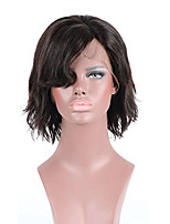 Women Human Hair Lace Wig Brazilian Remy Lace Front 130% Density With Baby Hair Natural Wave Wig Black Short Virgin