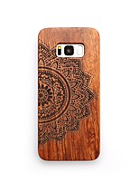 Case For Samsung Galaxy S8 Plus S8 Shockproof Embossed Back Cover Flower Hard Wooden for S8 S8 Plus