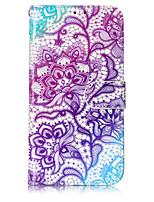 Недорогие -Кейс для Назначение Motorola Кошелек / Бумажник для карт / со стендом Чехол Цветы Твердый Кожа PU для Мото G5 Plus / Moto G5 / Moto C plus