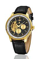 Homens Mulheres Relógio de Moda relógio mecânico Automático - da corda automáticamente Couro Banda