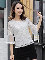 Tee-shirt Femme,Géométrique Sortie Mignon Demi Manches Col Arrondi Coton