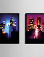 Arquitectura Desenho Animado Abstracto Quadros Emoldurados Conjunto Emoldurado Arte de Parede,PVC Material com frame For Decoração para