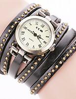 Mulheres Relógio de Moda Bracele Relógio Relógio Casual Chinês Quartzo PU Banda Boêmio Casual Elegantes Preta Branco Azul Vermelho Marrom