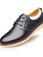 Men's Shoes Pigskin Fall Winter Comfort Oxfords Lace-up For Casual Office & Career Navy Blue Brown Black