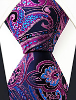 cheap -Men's Vintage Work Casual Silk Necktie - Floral