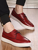 Men's Shoes Cowhide Spring Fall Comfort Sneakers For Casual Outdoor Red Black White