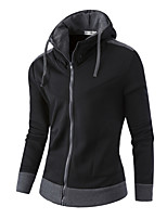 Men's Daily Sports Holiday Hoodie Solid Hooded Micro-elastic Cotton Long Sleeve Winter Fall
