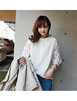 Women's Daily Casual T-shirt,Solid Round Neck Half Sleeves Cotton