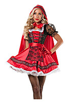 Princess Fairytale Cosplay Costumes Adults' Halloween Festival/Holiday Halloween Costumes Red Fashion Vintage