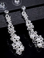 Women's Drop Earrings Basic Elegant Pearl Crystal Jewelry For Wedding Daily