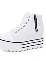 Women's Shoes Canvas Spring Comfort Sneakers Flat Heel For Casual Black White