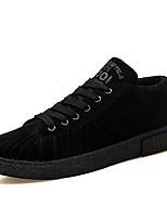 Men's Shoes PU Spring Fall Comfort Sneakers Lace-up For Casual Black Gray Brown