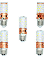 5pcs 12W E27 LED Corn Lights T 60 leds SMD 2835 Warm White White Dual Light Source Color 1000lm 3000-3500  6000-6500  3000-6500K AC