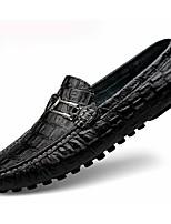 Для мужчин обувь Полиуретан Весна Осень Удобная обувь Мокасины и Свитер Назначение Повседневные Черный Темно-синий