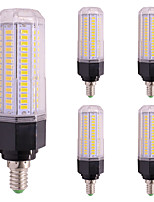 5pcs 13W LED Corn Lights T 144 leds SMD 5730 Warm White Cold White 1200lm 2800-3500;5000-6500K AC85-265V E27/E14