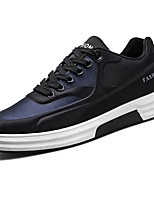 Men's Shoes Rubber Fall Comfort Sneakers Lace-up For Outdoor Black/Blue Black/Red Black/White