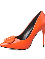 Women's Shoes Microfibre Spring Fall Basic Pump Heels For Casual Green Gray Orange Black